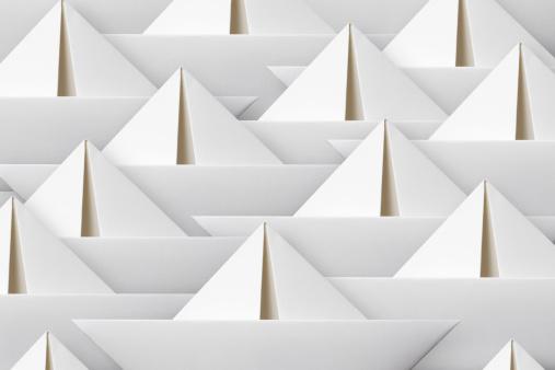 Origami「Paper boats」:スマホ壁紙(15)