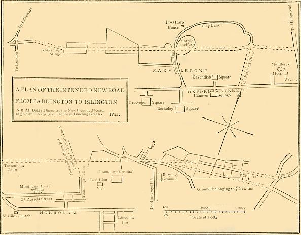 Plan - Document「Ground Plan Of New Road From Islington To Edgware Road」:写真・画像(9)[壁紙.com]