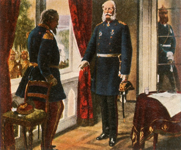 Surrendering「King Wilhelm And Emperor Napoleon After The Battle Of Sedan」:写真・画像(9)[壁紙.com]