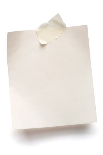 Adhesive Note「White note paper isolated」:スマホ壁紙(18)
