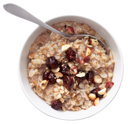 Nut - Food「Bowl of Oatmeal with Nuts and Berries」:スマホ壁紙(16)
