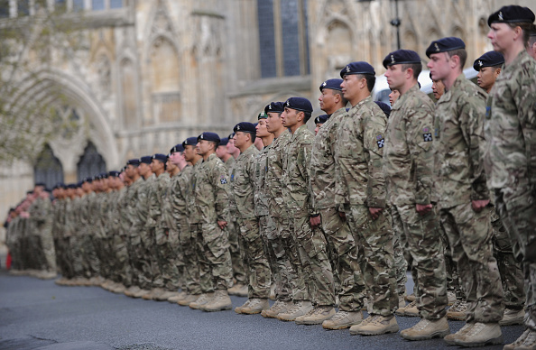 Concentration「Soldiers Returning From Service In Afghanistan Parade Through York」:写真・画像(19)[壁紙.com]