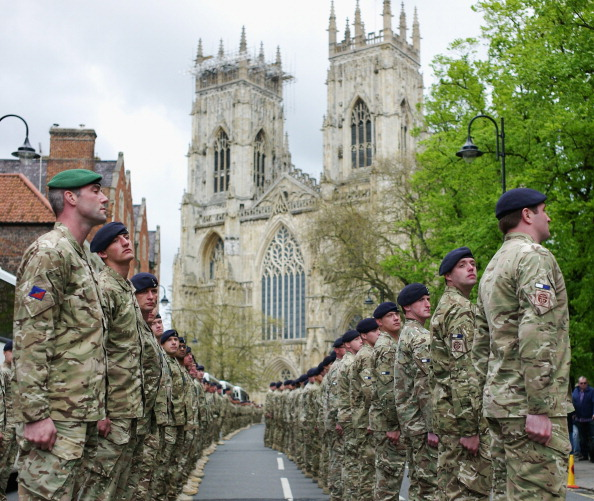 Concentration「Soldiers Returning From Service In Afghanistan Parade Through York」:写真・画像(3)[壁紙.com]