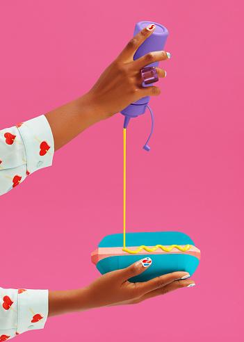 Savory Sauce「Paper-Craft Hot Dog」:スマホ壁紙(17)