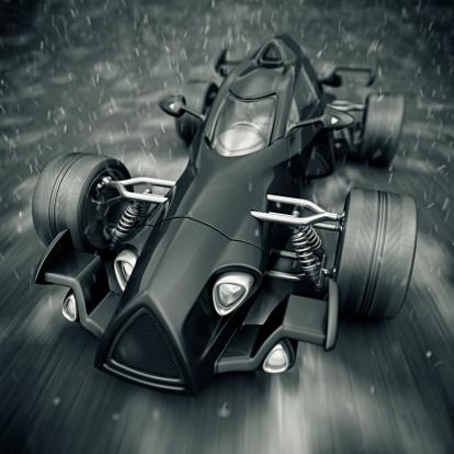 Hot Rod Car「race car in rain」:スマホ壁紙(0)