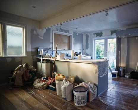 日曜大工「Kitchen under construction during remodel」:スマホ壁紙(8)
