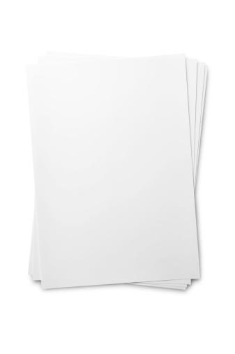 Publication「Blank paper sheet on white」:スマホ壁紙(16)