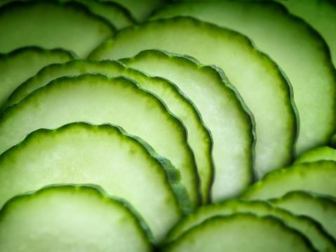 Cucumber「Close up of sliced fruit」:スマホ壁紙(8)