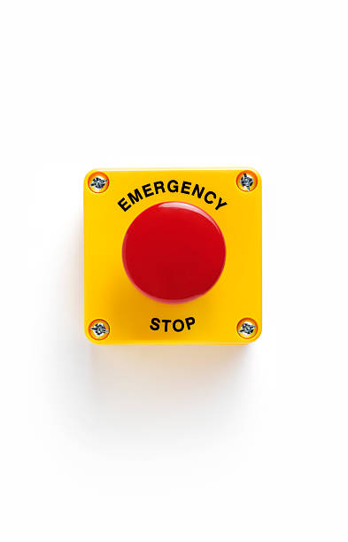 Close up of emergency stop panic button with:スマホ壁紙(壁紙.com)