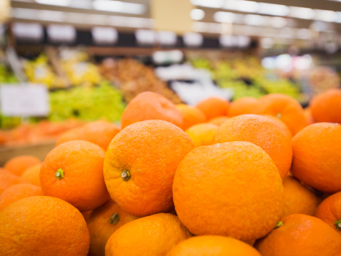 Supermarket「Close up of fruit for sale in grocery store」:スマホ壁紙(3)