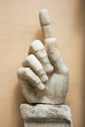 Rome - Italy「Close up of the hand of Constantine statue, Capitoline Museum, Italy」:スマホ壁紙(16)