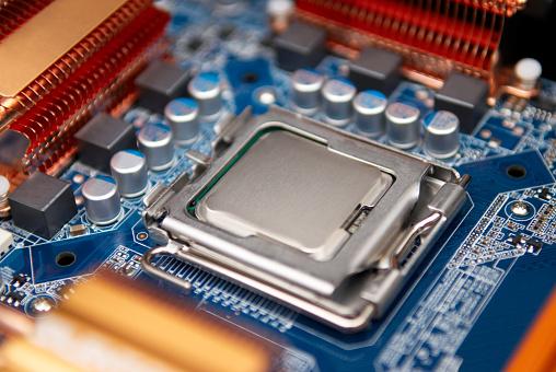 Mother Board「Close up of Computer motherboard」:スマホ壁紙(4)