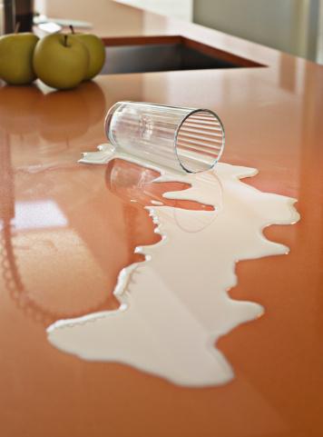 Misfortune「Close up of milk spilled on counter」:スマホ壁紙(14)