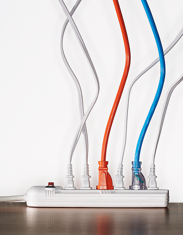 Cable「Close up of cords plugged into power strip」:スマホ壁紙(4)