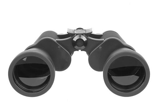 Binoculars「Close up of pair of black binoculars」:スマホ壁紙(6)