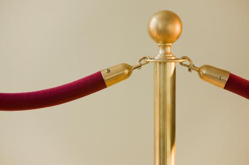 Velvet「Close up of velvet rope and stanchion」:スマホ壁紙(12)