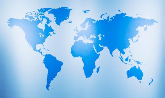 Global Finance「Close up of world map」:スマホ壁紙(18)