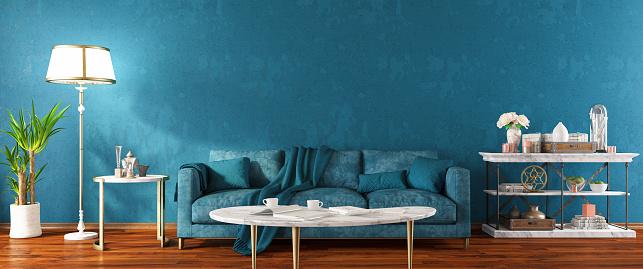 Velvet「Panoramic Blue Modern Living Room」:スマホ壁紙(19)