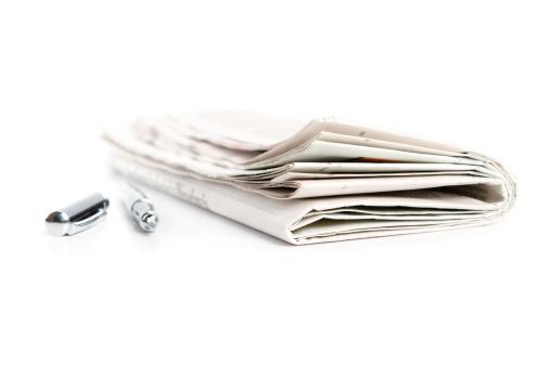 Printout「newspaper with ballpen」:スマホ壁紙(6)