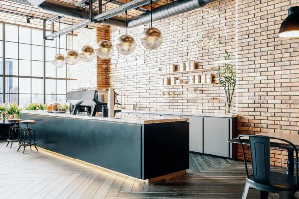 Third Wave Coffee Shop Interior:スマホ壁紙(壁紙.com)