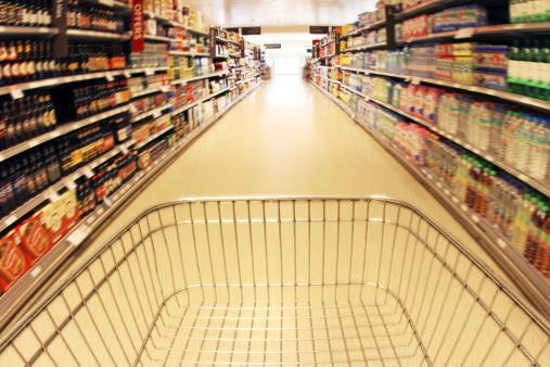 Store「Trolley in supermarket aisle」:スマホ壁紙(16)
