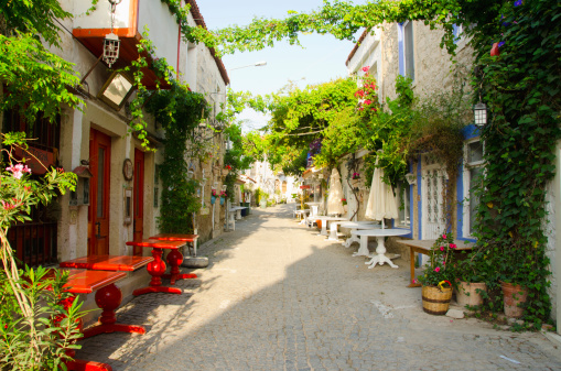 Izmir「Turkey, Cesme, Alacati, Traditional alley in village」:スマホ壁紙(18)