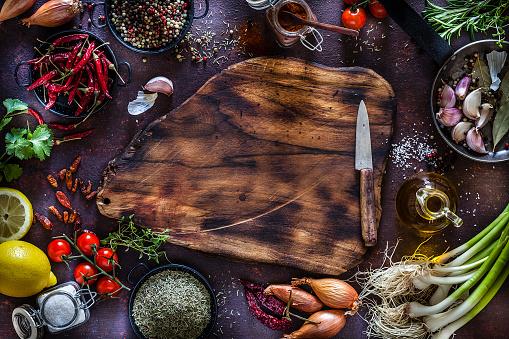 Kitchen Knife「Cooking and seasoning background」:スマホ壁紙(13)