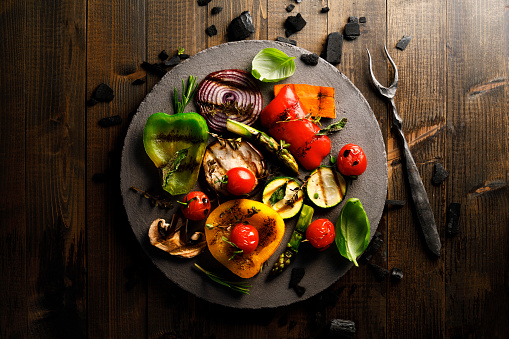Barbecue Grill「Grilled Vegetables」:スマホ壁紙(18)