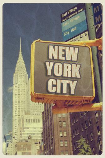 1980-1989「Vintage New York City Postcard」:スマホ壁紙(2)