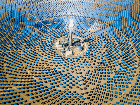 Tower「Solar Thermal Power Plant Station Aerial View」:スマホ壁紙(3)