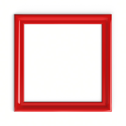 Square - Composition「Red Plastic Picture Frame」:スマホ壁紙(8)
