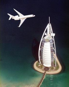 Mode of Transport「Business Jet Flies Past Dubai Hotel」:写真・画像(15)[壁紙.com]