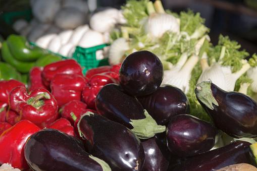Fennel「Vegetables for sale at the market in Olhao in the Algarve」:スマホ壁紙(3)
