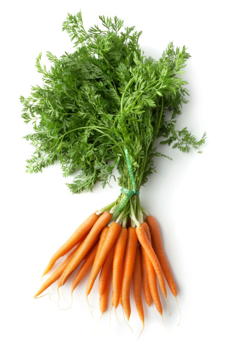 Carrot「Vegetables: Carrots Isolated on White Background」:スマホ壁紙(6)