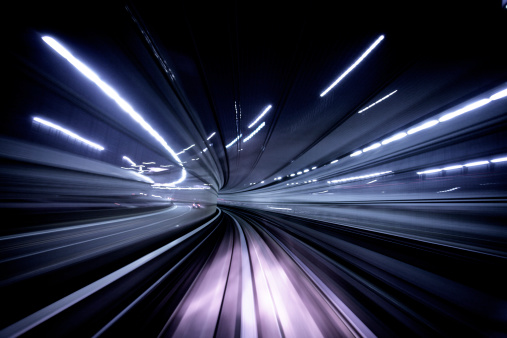 Driverless Transport「Night tunnel」:スマホ壁紙(12)