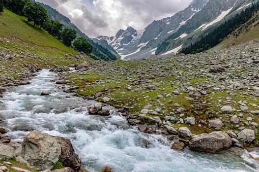 River「Glacier Stream in Thaiwas,,Zozila Pass,Jammu and Kashmir, Ladakh Region, Tibet,India,」:スマホ壁紙(13)