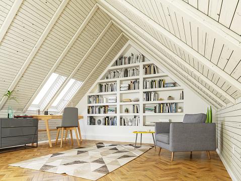 Telecommuting「Study room in the attic」:スマホ壁紙(13)