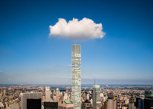 Tower「Cloud over a modern skyscraper」:スマホ壁紙(2)