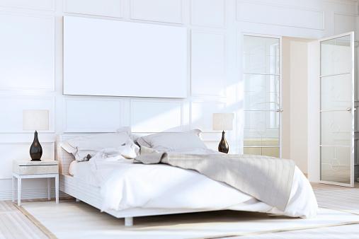 Bedroom「White Luxury Bedroom Wall Art」:スマホ壁紙(11)