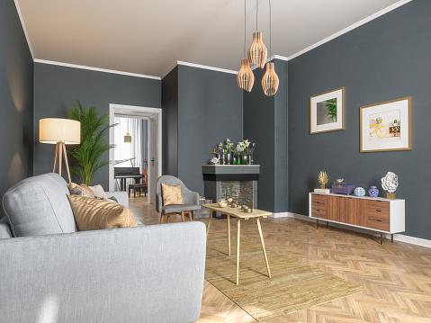 Moulding - Trim「Living room interior design」:スマホ壁紙(12)