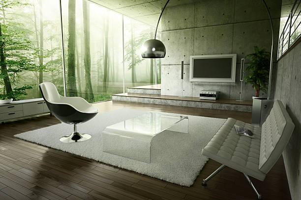 Living room in the forest:スマホ壁紙(壁紙.com)