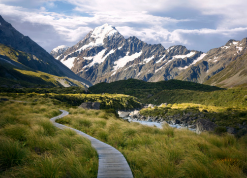South Island New Zealand「Trail to Mt. Cook, South Island, New Zealand」:スマホ壁紙(9)