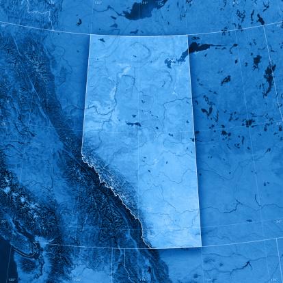 アサバスカ山「アルバータ Topographic マップ」:スマホ壁紙(2)