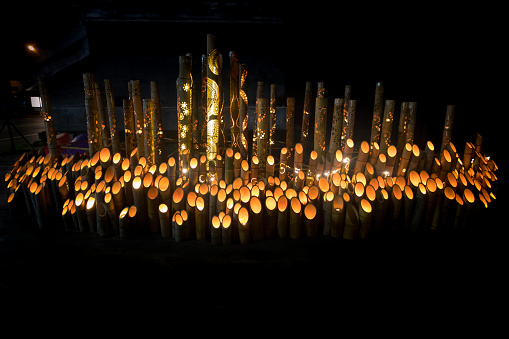 Kimono「Bamboo candle lights」:スマホ壁紙(18)