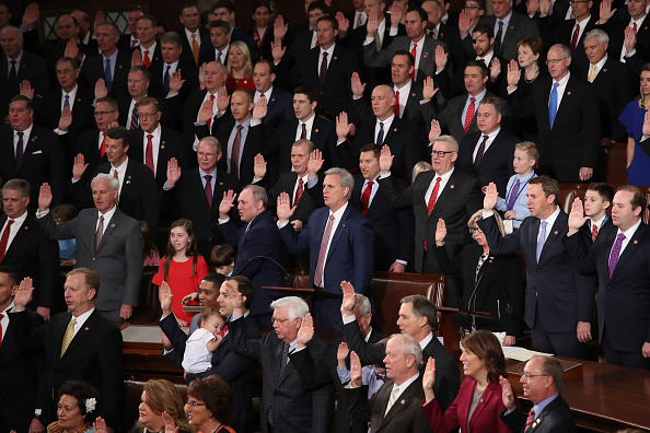US Republican Party「House Of Representatives Convenes For First Session Of 2019 To Elect Nancy Pelosi (D-CA) As Speaker Of The House」:写真・画像(2)[壁紙.com]