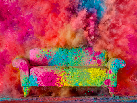 Art「Colorful couch」:スマホ壁紙(9)