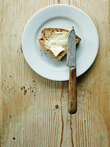 Bread「Plate with bread and butter」:スマホ壁紙(6)