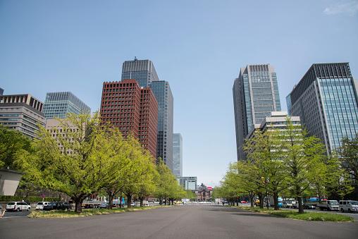Tokyo - Japan「Skyscrapers in Marunouchi, Tokyo」:スマホ壁紙(18)
