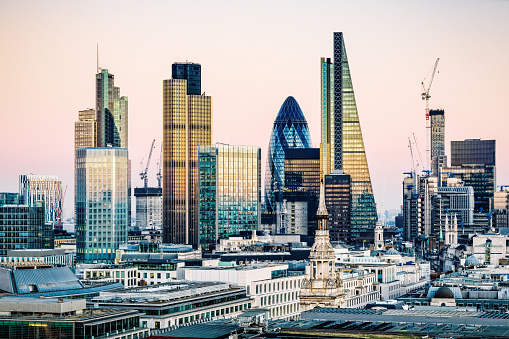 Architectural Column「Skyscrapers in City of London」:スマホ壁紙(17)