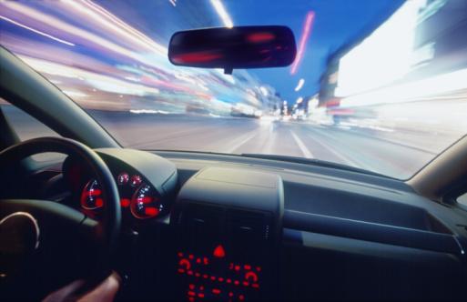 Car Interior「City at Night From Moving Car」:スマホ壁紙(8)